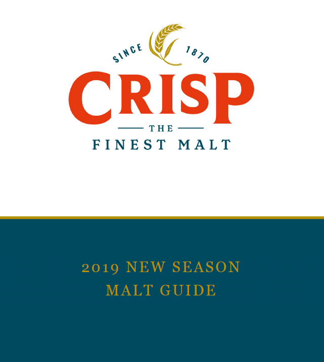 Picture of the cover of the Crisp 2019 New Season Malt Guide