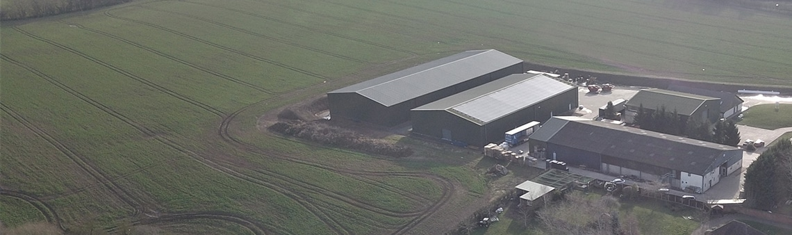 Aerial photo of the Charles Faram site in Newland Worcestershire